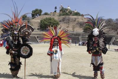 Equinoccio de primavera en la pirámide de Cholula