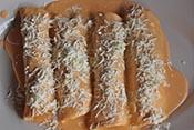 Enchiladas de nata